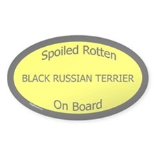 Spoiled Black Russian Terrier Oval Decal