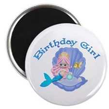 "Lil Mermaid Birthday Girl 2.25"" Magnet (10 pack)"