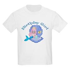 Lil Mermaid Birthday Girl T-Shirt