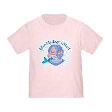 Lil Mermaid Birthday Girl T