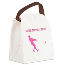 Pink Hammer Throw Silhouette (Custom) Canvas Lunch