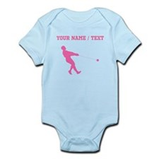 Pink Hammer Throw Silhouette (Custom) Body Suit