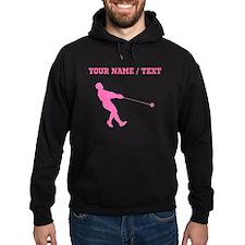 Pink Hammer Throw Silhouette (Custom) Hoodie
