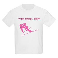 Pink Skier (Custom) T-Shirt