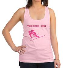 Pink Skier (Custom) Racerback Tank Top