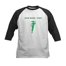 Green Runner Silhouette (Custom) Baseball Jersey