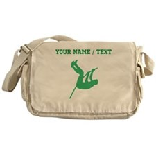Green Pole Vaulter Silhouette (Custom) Messenger B