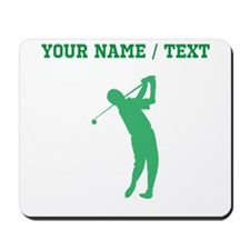 Green Golfer Silhouette (Custom) Mousepad