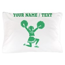 Green Cheerleader (Custom) Pillow Case
