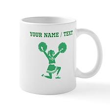 Green Cheerleader (Custom) Mugs