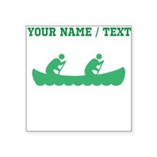 Green Canoeing (Custom) Sticker