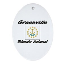 Greenville Rhode Island Oval Ornament