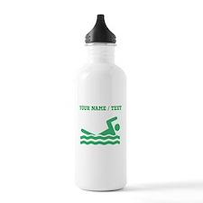 Green Swimmer (Custom) Water Bottle