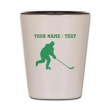 Green Hockey Player (Custom) Shot Glass