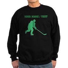 Green Hockey Player (Custom) Sweatshirt