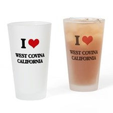 I love West Covina California Drinking Glass
