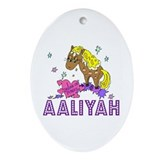 I Dream Of Ponies Aaliyah Oval Ornament