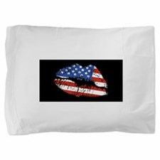 AmericanFlagLips.png Pillow Sham