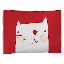 Cute Funny cat face Pillow Sham