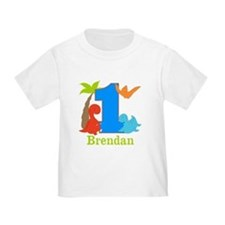 1st Birthday Dinosaur Personalized T-Shirt