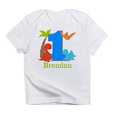 1st Birthday Dinosaur Personalized Infant T-Shirt