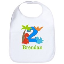 2nd Birthday Dinosaur Personalized Bib