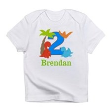 2nd Birthday Dinosaur Personalized Infant T-Shirt