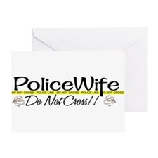 Unique Policewives Greeting Card