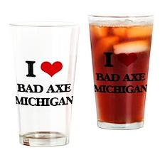 I love Bad Axe Michigan Drinking Glass