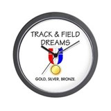 TOP Track & Field Dreams Wall Clock