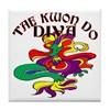 Tae Kwon Do Diva Tile Coaster