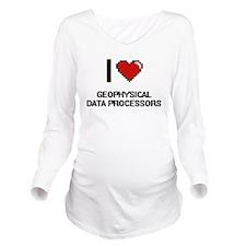 I love Geophysical D Long Sleeve Maternity T-Shirt