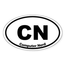 Computer Nerd Oval Decal
