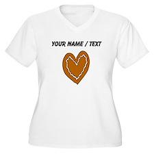Ginger Bread Heart (Custom) Plus Size T-Shirt