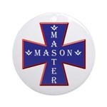Master Masons Cross Ornament (Round)