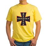 Master Masons Cross Yellow T-Shirt