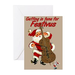&quot;Get In Tune For Festivus&quot; Cards (Pkg. of 10)