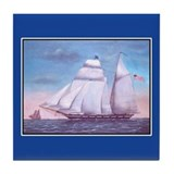 Tall Ships Tile Coaster