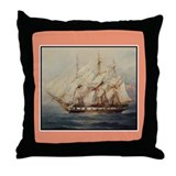 Tall Ship Gift Throw Pillow