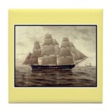 Tall Ship Tile Coaster