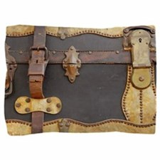 Steampunk Luggage Pillow Sham