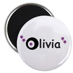 olivia name with stars Magnet