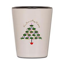 Genealogy Christmas Tree Shot Glass