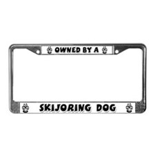 Skijoring License Plate Frame