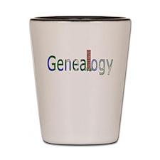 Genealogy Brick Wall Shot Glass