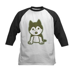 Husky Puppy Kids Baseball Jersey