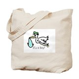 It's a boy! Stork Tote Bag