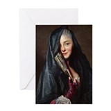 Veiled Marie Greeting Card