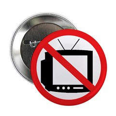"No TV 2.25"" Button (100 pack)"