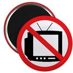 No TV -- Anti-Television Magnet